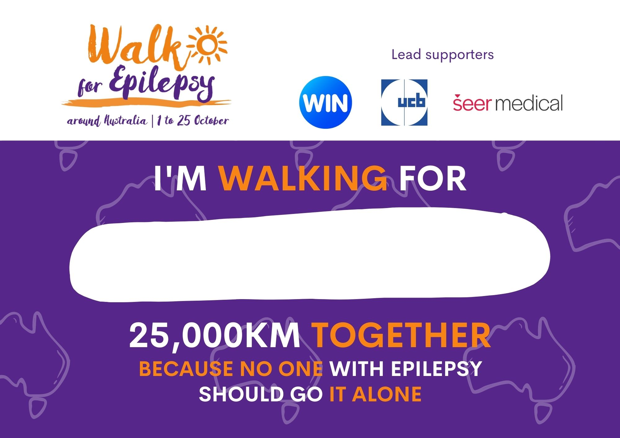 Walk for Epilepsy Bib - Purple